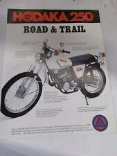 Vintage Hodaka 250 road and trail  new dealers sale lit  mint perfect