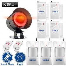 Kerui Wireless Home Security Alarm System Strobe Siren Pir Detector Door Sensor