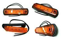 4x LED Umrissleuchte E9 Begrenzungsleuchte Seitenleuchte gelb LKW PKW Anhänger