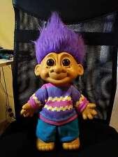 "Vtg 18"" TROLL Russ Collection Big Doll Rare Large Giant Jumbo Purple Hair"