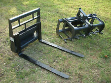 """Toro Dingo Skid Steer Attachment 42"""" Root Grapple and Pallet Forks - Ship $199"""