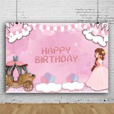 Pink Princess'S Birthday Party Photography Backdrop Birthday Photo Studio