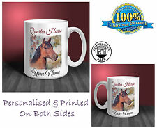 Quarter Horse Personalised Ceramic Mug: Perfect Gift. (HR24)