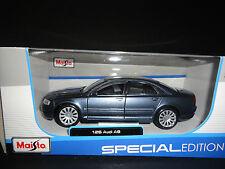 Maisto Audi A8 Blue 1/26