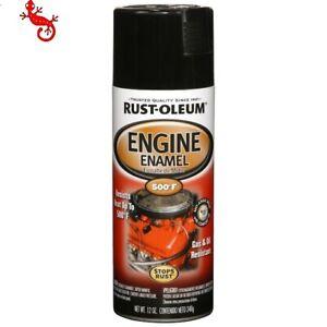Rust-Oleum Black Gloss Engine Enamel Spray Paint High Heat
