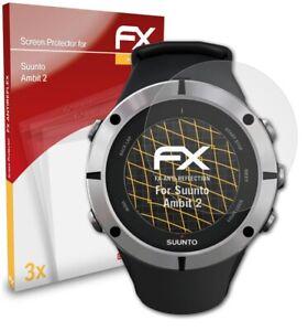 atFoliX 3x Beschermfolie voor Suunto Ambit 2 Screen Protector mat&schokbestendig