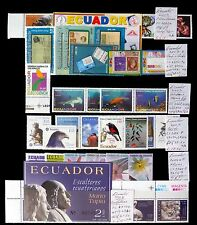ECUADOR 2003/4 U/M Sets As Described Offered As A Lot NB1011