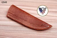 Custom Hand Made Pure Leather Sheath For Fixed Blade Knife - Q 548