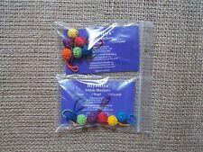 HiyaHiya stitch markers, yarn ball stitch markers, rainbow stitch markers, 6pcs