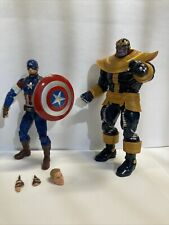 Marvel Legends Infinite Series Captain America and Thanos BAF (both complete)