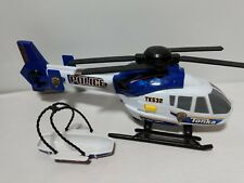 Tonka Rescue Force Police Helicopter Lights & Sound Blue White TK532 Aerial Unit