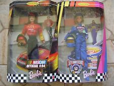 A-1  NASCAR BARBIE DOLL LOT OF 2 NEW COLLECTR' EDITION DOLLS
