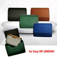 Travel Carrying Case Storage Bag Pouch de Cuero Para Sony WF-1000XM3 Auricular
