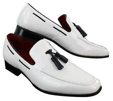 a902c415e34 Mens Slip On Patent Shiny Tassle Driving Loafers Shoes Leather Smart Casual