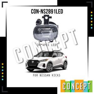 For 2021 Nissan Kicks LED Fog Lights Left & Right Side