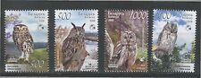 2008. Belarus. Birds of Belarus. Owls. Set. MNH