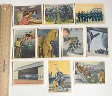 1950s SAS SCANDINAVIAN AIR SERVICE DANISH VINTAGE TRADING CARDS BULK LOT #1 EXC!