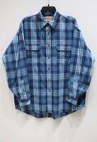 Vintage Reyn Spooner long sleeve button up plaid shirt check blue men's Large