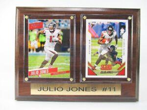 Julio Jones Atlanta Falcons Wood Wall Picture 7 7/8in, Plaque NFL Football