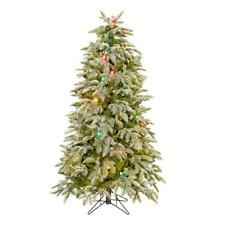 NEW Raz 7.5' Flocked Multi Colored C7 Artificial Christmas Tree T3700250
