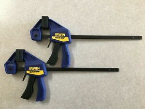 """(2-Pack) Irwin Quick Grip Adjustable Micro Ratcheting Bar Clamps 4.25"""""""