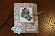 Stampin Up/Rubber Hedgehog Rubber Stamps Mother's Day English Cocker Spaniel