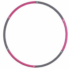 Fitness Mad Hula Hoop 1.1Kg Aerobic Studio Weighted Standard  Pink & Grey *DEAL*