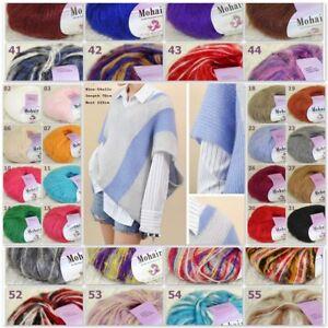 Sale New 1BallsX25g Luxury Soft Mohair Warm Wrap Shawl Hand Knit Crochet Yarn