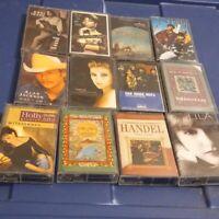 (105) cassette tapes lot country,gospel,rock