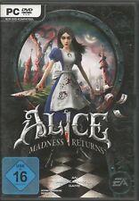 Alice: Madness Returns (PC 2011 DVD-Box) très bon état, avec Origin Key Code