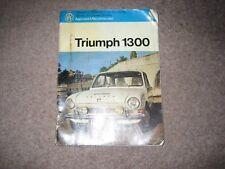 Triumph 1300 (65-69)  Pearson servicing book