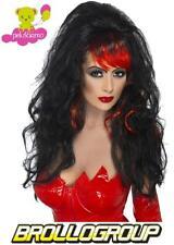 Accessorio Costume Carnevale Parrucca donna Diavolo nera smiffys *11845