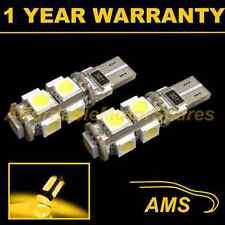 2X W5W T10 501 CANBUS ERROR FREE AMBER 9 LED SIDELIGHT SIDE LIGHT BULBS SL101703