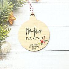 Keepsake Christmas Bauble - Baby First Christmas Ornament - Xmas Decoration