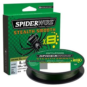 New 2020 Spiderwire Stealth Smooth 8 Braided Line 300 m./328yd