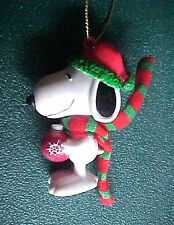 Miniature Peanuts Snoopy with Hat & Scarf Christmas Ornament