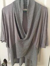 Anthropologie Testament Crisscross Kimono Top Size XS in Gray.