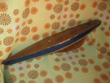 Vintage Ancienne COQUE DE BATEAU 68cm Ancien VOILIER DE BASSIN MAQUETTE en BOIS