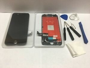 iPhone 7 BLACK Color  LCD  Touch Screen  Digitizer Assembly 3D TOUCH +TOOL
