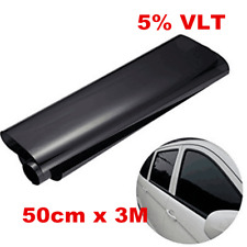 50cm x 3M Black Auto Glass Window Tint Shade Film VLT 5% Roll Car Accessories