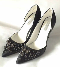 BLACK COURT SHOES WITH JEWELLED DESIGN - SIZE 6 - DOROTHY PERKINS