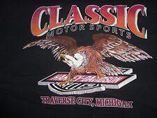 Vintage 90's HARLEY DAVIDSON EAGLE Traverse City Holoubek biker MC t shirt L