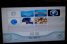 Nintendo Wii - White - Console Only - HomeBrew - Soft Mod + 32gb SD - Retro