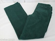 J CREW TROUSER CORD CITY FIT BOULEVARD GREEN SIZE 00 NWT