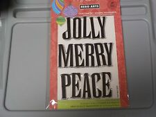HERO ARTS POLY CLEAR 4X6 JOLLY BOLD CHRISTMAS WORDS 3 STAMPS #CL620 NEW A1199