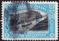 Canal Zone - 1917 - 50 Cents Bright Blue & Black S.S. Panama Oveprinted Issue 50