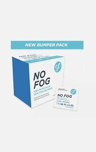 NO FOG Glasses Lens Screen Cleaning Wipes Anti Fog No Steam BOX 100 wipes