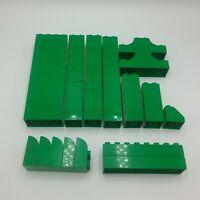 Duplo Green 2x2 2x4 2x3 Curve 2x8 2x2 Tall 2x2 Slope 2x6 Double Invert Curve