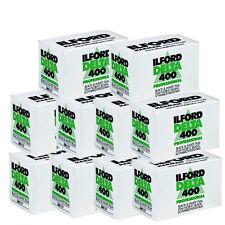 10 Rolls Ilford Delta 400 Pro 135-36 Black & White Print Negative Film exp. 2018