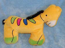 Northpoint Kids Plush Yellow Zebra Horse Micro Bead Pillow